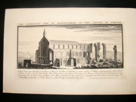 Buck 1738 Folio Architecture Print. Binham Priory, Norfolk